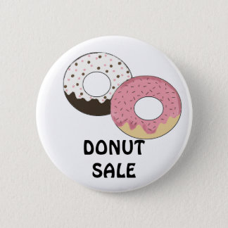 Frosted Donuts with Sprinkles Pinback Button