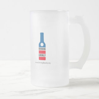 Frosted Drinking Liberally Mug
