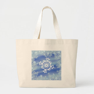 Frosted Edges I Large Tote Bag