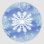 Frosted Edges III Classic Round Sticker
