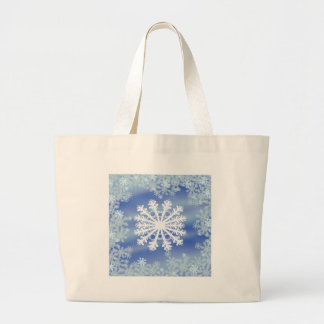 Frosted Edges III Large Tote Bag