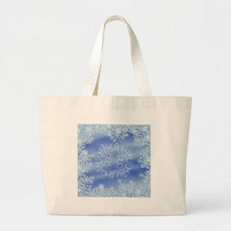 Frosted Edges V Large Tote Bag