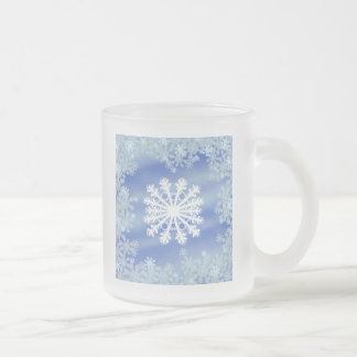 Frosted Edges VIII 10 Oz Frosted Glass Coffee Mug