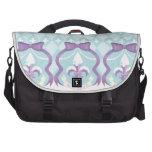 Frosted Fleur de Lis - Harlequin Bags For Laptop