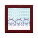 Frosted Fleur de Lis - Harlequin Jewelry Boxes