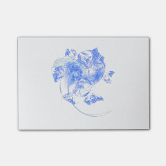 Frosted Flower Fractal Post It Note Pad