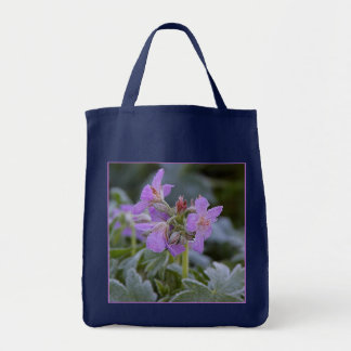 Frosted Flowers Grocery Tote Tote Bag
