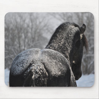 Frosted Friesian Butt Mouse Pad
