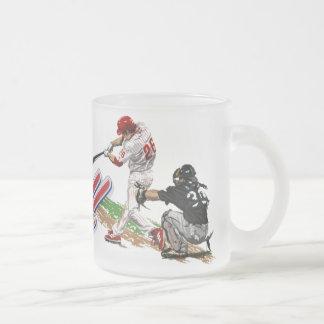 Frosted Glass Baseball Mug