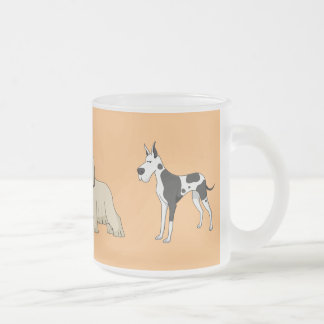 Frosted glass cup of dog exhibition