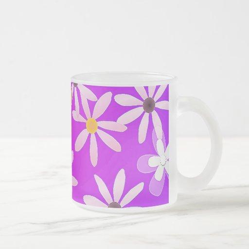 Frosted Glass Flower Mug