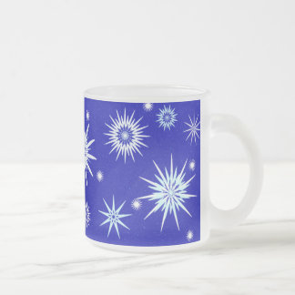 Frosted Glass Holiday Set Coffee Mugs
