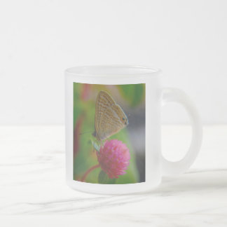 Frosted Glass Mug - Butterfly Images..