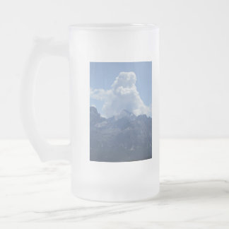 Frosted Glass Mug: Clouds Over The Dolomites 16 Oz Frosted Glass Beer Mug