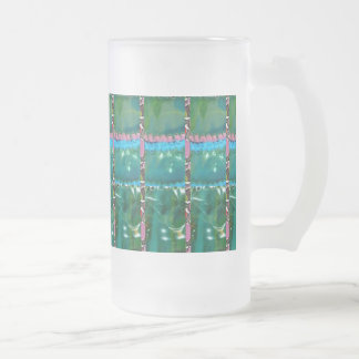 Frosted Glass Mug Emerald Crystal Stone Tiles