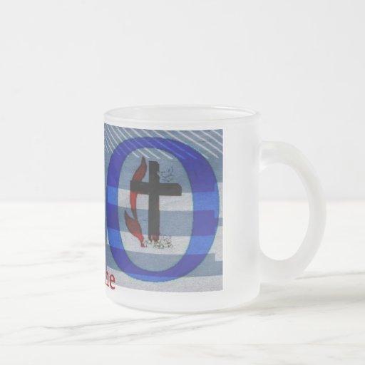 Frosted Glass Mug H2O Papyrus