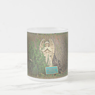 Frosted Glass Mug - Sedona Angel