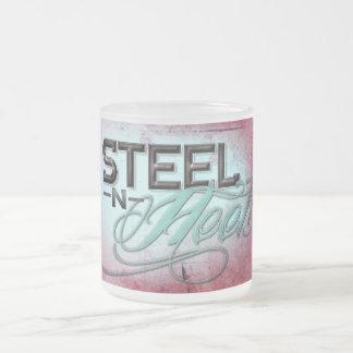 Frosted Glass Mug Steel N Heels