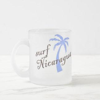 Frosted glass mug - surf Nicaragua