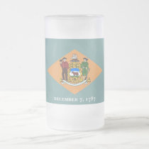 Frosted Glass Mug with flag of Delaware, USA