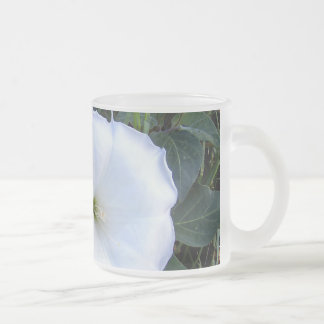 Frosted Glass Sacred Datura Mug
