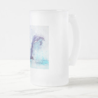 Frosted, glass, stein, 16oz,  custom, design frosted glass beer mug
