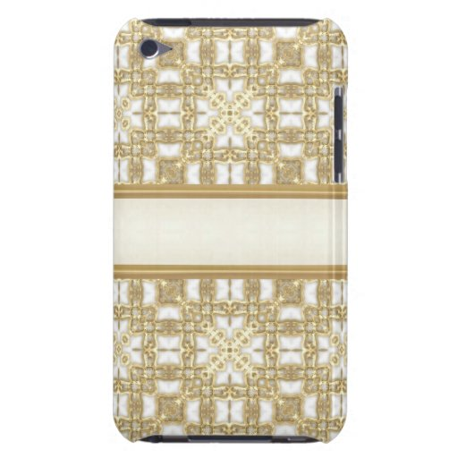 Frosted Gold Boxes Barely There iPod Cases