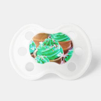 Frosted Green Cupcakes - Sweet Bakery Print Pacifier