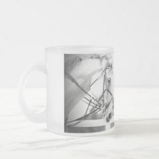 Frosted Grey horse mug