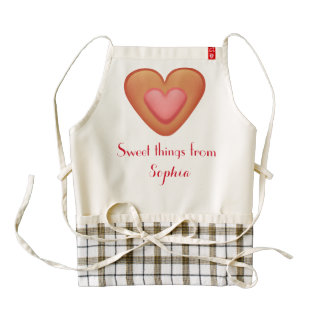 Frosted Heart Cookie Sweet Things Custom Name A01A Zazzle HEART Apron
