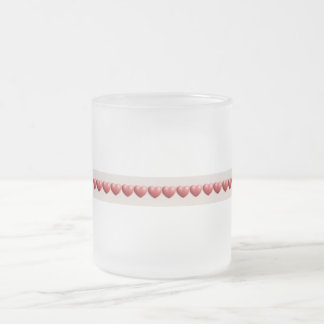 Frosted Heart Frosted Glass Coffee Mug
