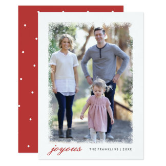 Frosted Holiday Photo Card