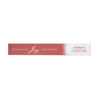 Frosted Holiday Return Address Labels