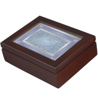 Frosted Holly Leaves Holiday Keepsake Box