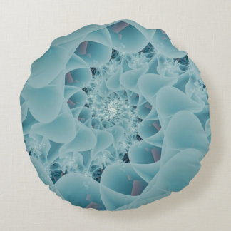 Frosted Lace Round Pillow