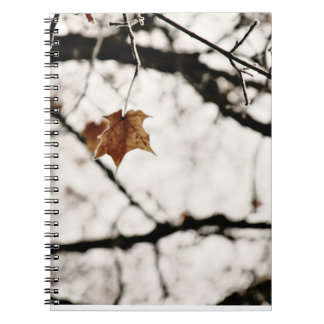 Frosted Leaf Notebook