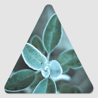 Frosted Leaf Triangle Sticker