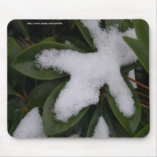 Frosted Leaves mousepad