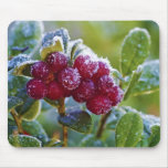 Frosted lingonberries mousepads