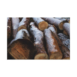 Frosted Logs Canvas