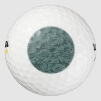 Frosted Mint Damask Weave Look Pack Of Golf Balls