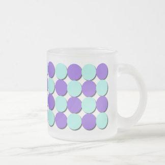 Frosted Mug Aqua & Blue Polka Dots Mugs