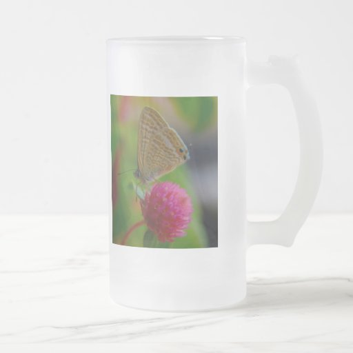 Frosted Mug - Butterfly Image ..