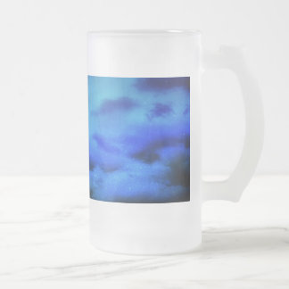 Frosted Mug~ Customize it!  Dreamy Time Design 16 Oz Frosted Glass Beer Mug