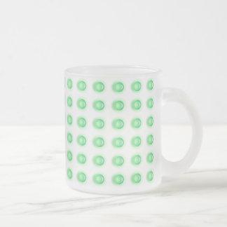 Frosted Mug Green Leds