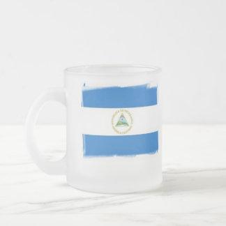 frosted mug - Nicaraguan flag
