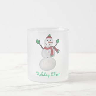 Frosted Mug - Snowman