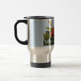 Frosted mug with images of Trumpets vines Cape May