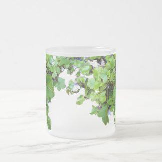Frosted Mug with Ivy Leaves