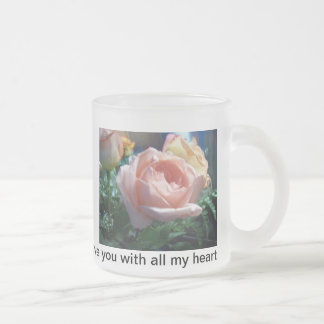 frosted mug with roses by gbillips